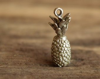 Pineapple Charm Sterling Silver Vintage
