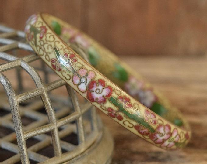 Cherry Blossom Cloisonne Bracelet
