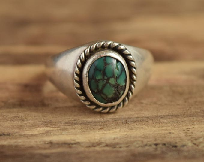 Rugged Turquoise Ring - Size 10 1/2
