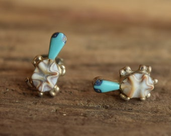 Turtle Stud Earrings - Native American Made