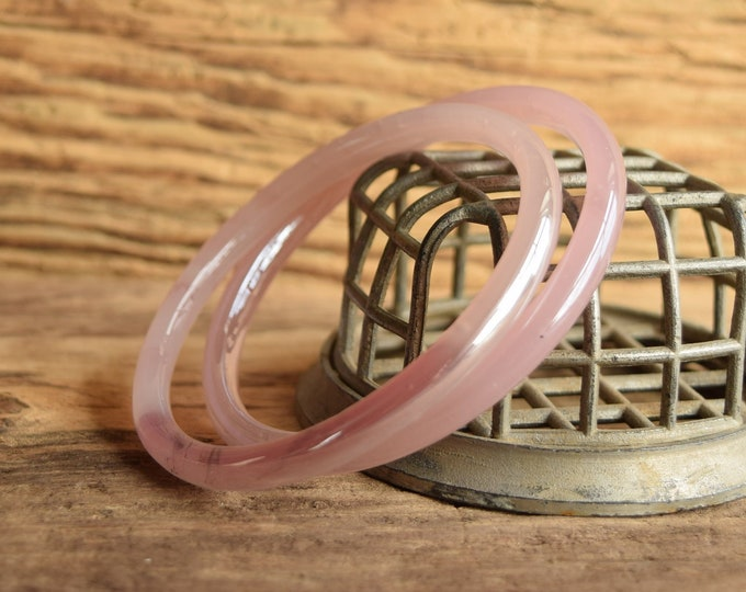 Lustrous Blush Pink Glass Bangles