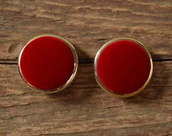 Red Velvet Earrings - Stud holiday earings