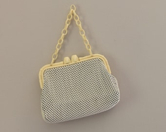1940's Bamboo Clasp Whiting and Davis Alumesh Bag