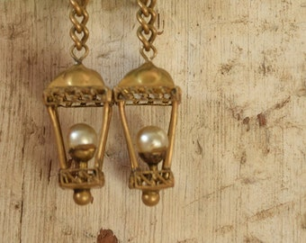 Lantern Novelty Earrings - Czechoslov Screw back Earrings