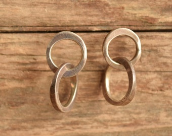 Double Hoop Sterling Earrings