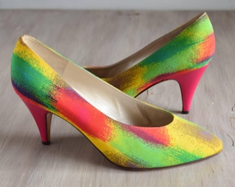 Bruno Magli Size 8 Pink Rainbow pumps