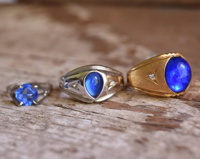 Blue Mid-century Ring