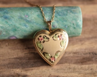 Heart Locket Necklace 14k Gold Filled
