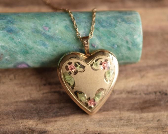 Heart Locket Necklace 14k Gold Filled