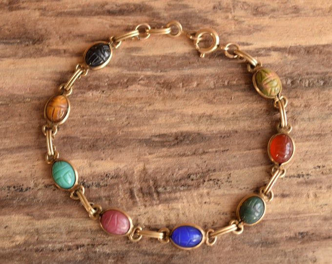 Tiny Scarab Bracelet 12 K GF