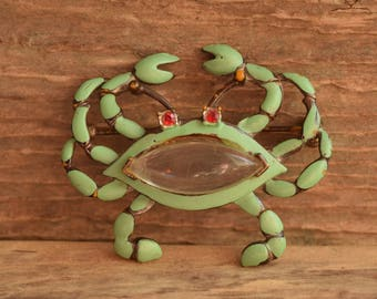 Vintage Jelly Belly Crab Brooch