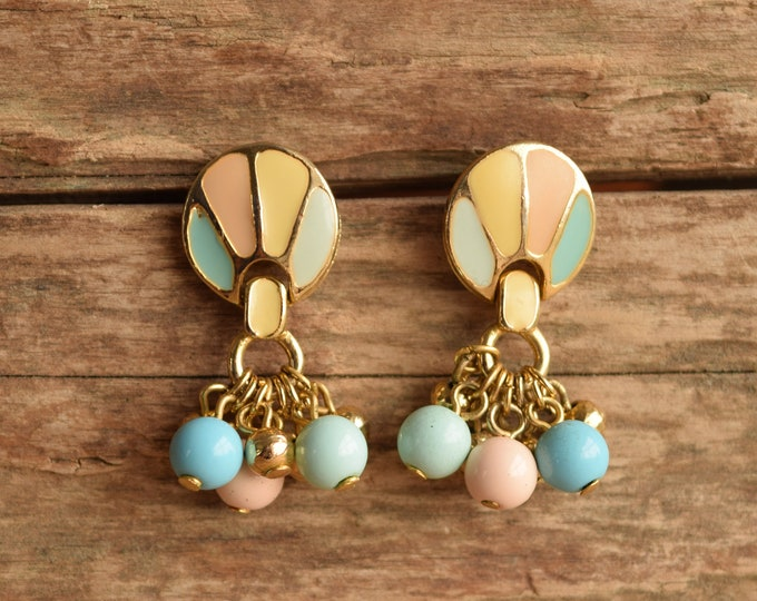Pastel Balloon Dangle Stud Earrings