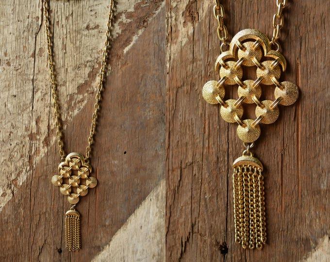 1970's Chain Tassel Necklace