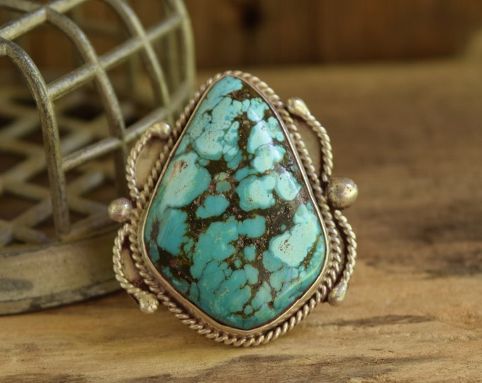 Big Teardrop Turquoise Ring - Size 12