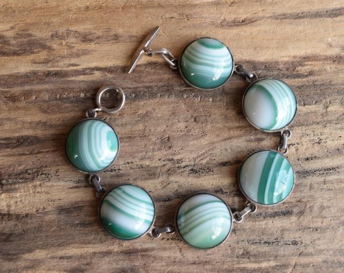Green Banded Agate Bracelet by Carl Ove Frydensberg