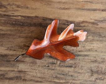 White Oak Leaf Brooch