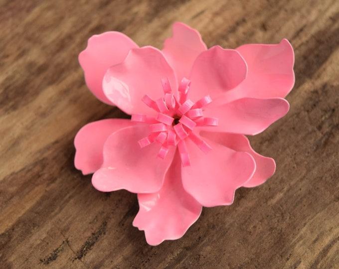 Vibrant Pink Flower Brooch