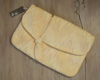 Cream & Beige Clutch - Modern Southwestern New Old Stock