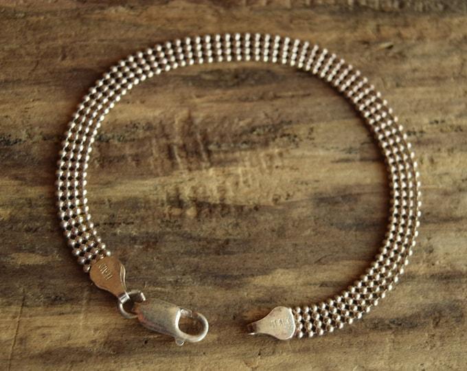 Delicate Sterling Silver Italian Bracelet