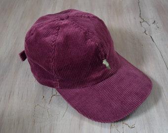 Plum Corduroy Ball Hat