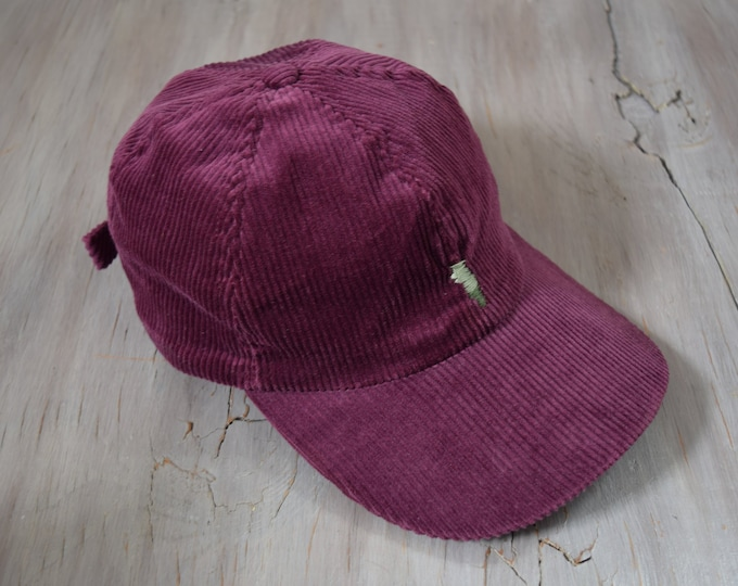 Plum Corduroy Ball Hat