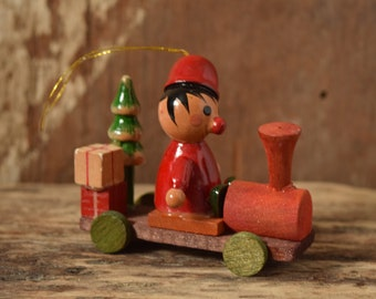 Wood Train Christmas Ornament
