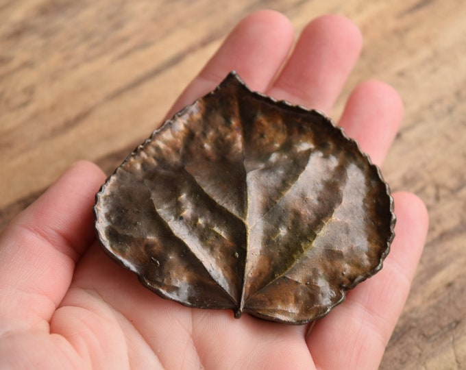 Aspen Leaf Belt Buckle by Bergamot Brass Works