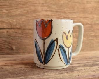 Tulip Stoneware Vintage Mug
