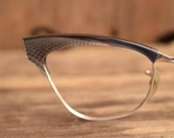 Black Cat Eye Glasses - Metal 1950s eyeglass frames - cateye glasses