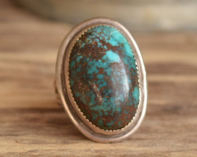 Large oval turquoise ring - Native rings - mermaid boho Turquoise jewelry boho chic, Native American Jewelry, bohemian rings, Indian Jewelry