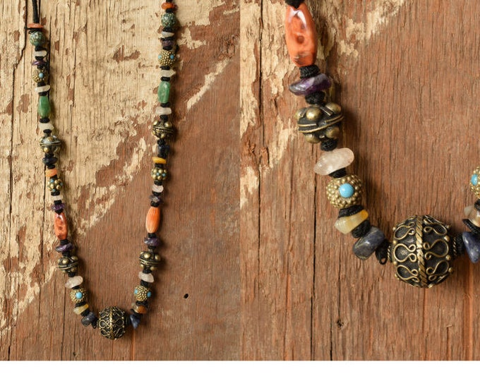 Hand Knotted Gemstone Necklace
