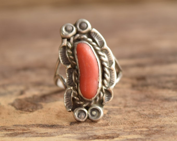 Coral Branch Ring -  Size 7.5
