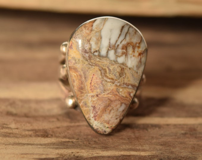 Natural Stone Ring - Native American Jewelry Size 9.5
