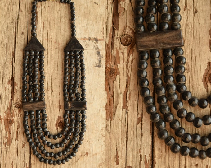 Dark Bohemian Multi Strand Necklaces