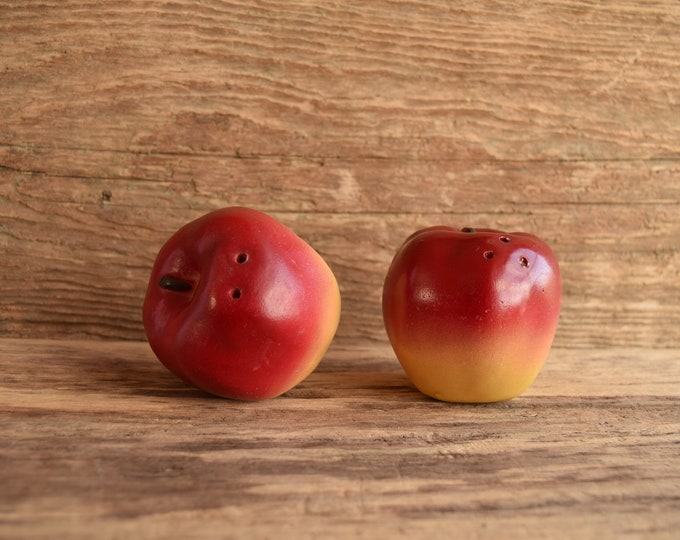 Apple Shaped Salt and Pepper Shakers
