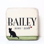 Cat Memorial Stone. 6x6 PERSONALIZED Burial Marker. Tumbled (Concrete) Paver Stone. Outdoor Cat Memorial Stone. Pet Marker