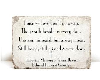 memorial stone etsy