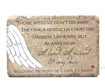 Memorial gift etsy personalized memorial gift 6x9 tumbled concrete paver remembrance stone in loving memory gift custom sympathy gift solutioingenieria Choice Image