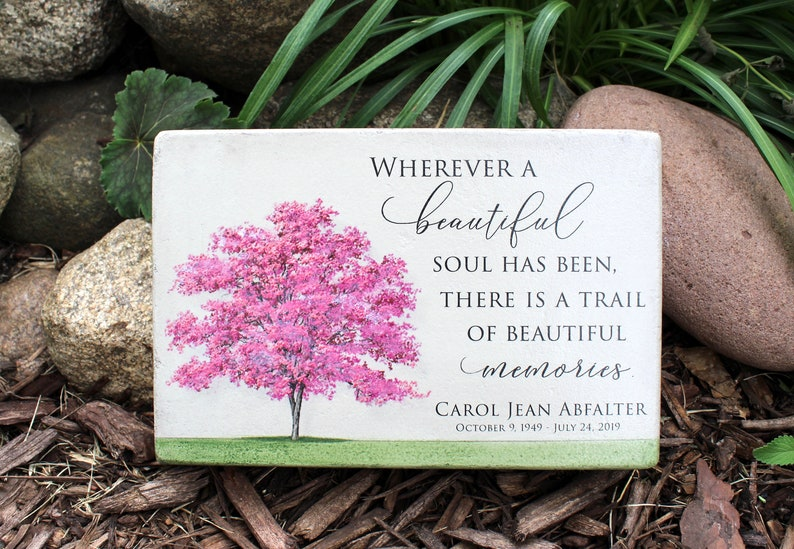 Personalized Memorial Stone. Outdoor or Indoor Use. 6x9 image 0