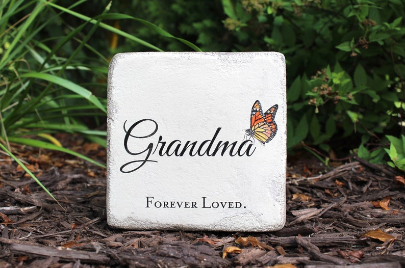 6x6 Memorial Stone for Grandma or personalized with the name image 0