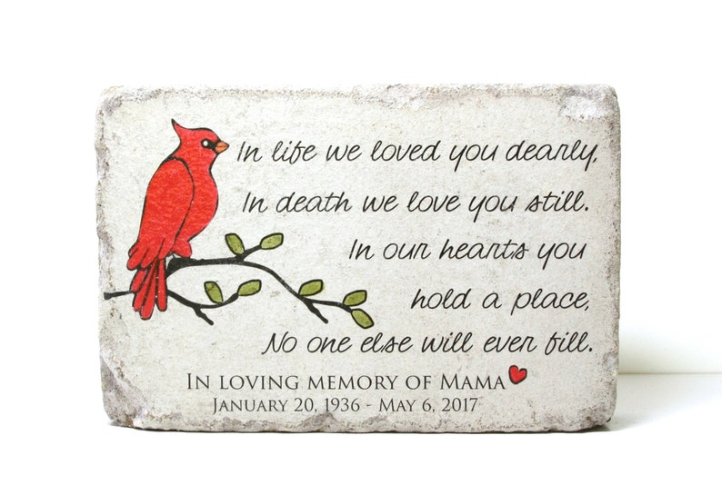 Remembrance Stone. 6x9 Concrete Garden Decor/ Sympathy Gift/ image 0