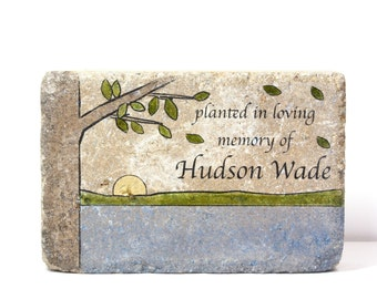 Memorial Stone. PERSONALIZED Memorial Gift. 6x9 Tumbled (Concrete) Paver. Remembrance Stone. In Loving Memory. Indoor/ Outdoor Memorial