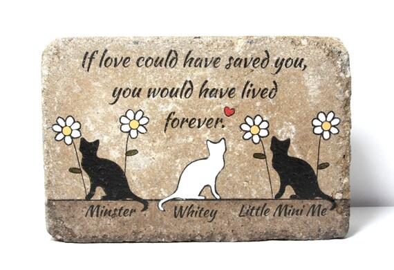Multiple Pet Memorial Stone. 6x9 CUSTOM Burial Marker ...