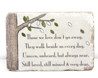 READY TO SHIP. Memorial Gift. 6x9 Tumbled Concrete. Remembrance Stone. In loving memory gift. Sympathy Gift. Funeral Gift