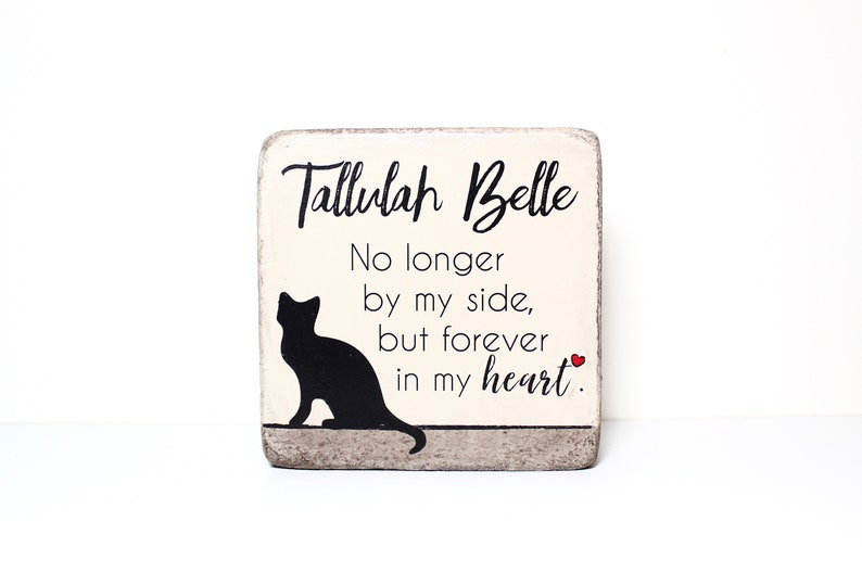 "6x6 PERSONALIZED Pet Memorial Stone & Burial Marker. Tumbled Keep as ""my"""