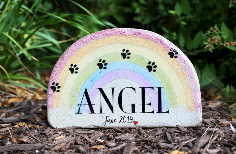 Pet Memorial Stone. 6x9 Concrete Burial Marker for Indoor or image 0