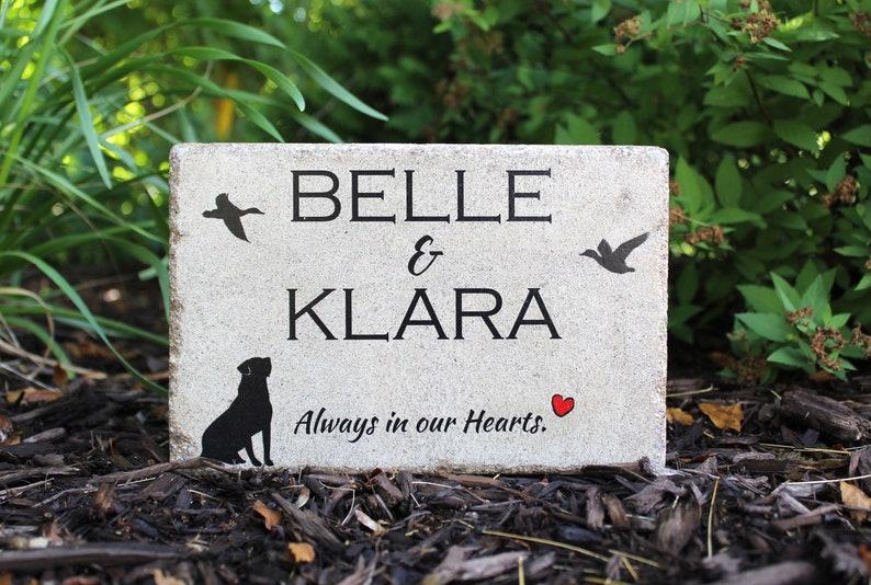 6x9 Pet Memorial Stone. Hunting Dog Memorial. Tumbled image 0