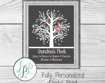 Personalized Grandparent Gift, Grandma and Grandpa Gift, Nana Gift, Grandparent Christmas Gift, Custom Grandma Gift, Gift from Grandchildren
