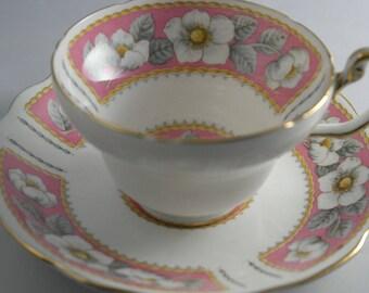 Vintage Pink Tea Cup Christmas Rose Foley English Bone China Tea CupBridal Tea Party China Tea Cup