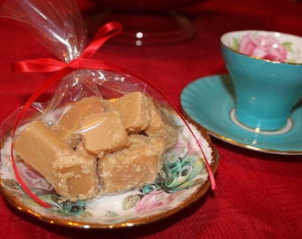 Traditional English Butter Fudge, Handmade Butter Fudge, Handmade Gourmet Confection, Organic and Gluten Free, Tea Party, Candy Sweets